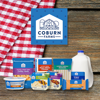 Coburn Farms Dairy Products at Save A Lot Discount Grocery Stores