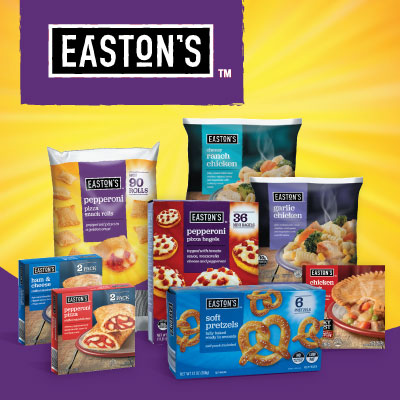 Easton's Frozen Entrees and Snacks at Save A Lot Discount Grocery Stores