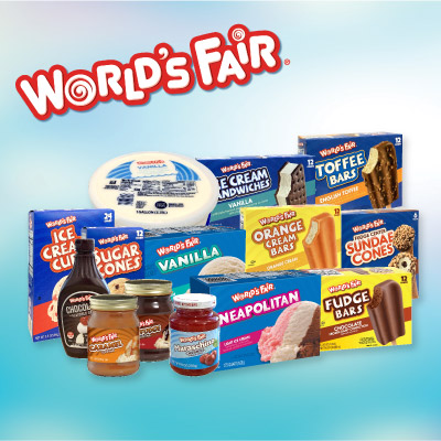 World's Fair Ice Cream and Toppings at Save A Lot Discount Grocery Stores